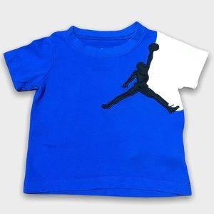 Blue And White Short Sleeve Jordan Shirt